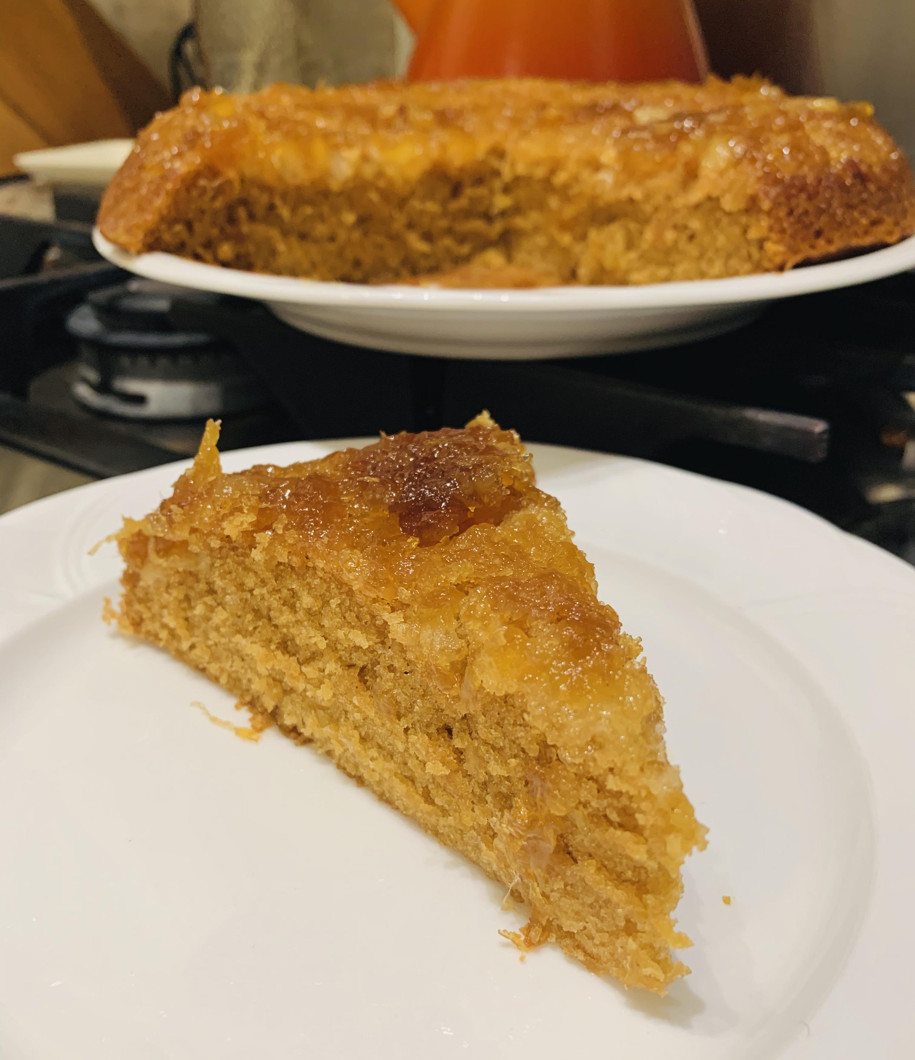 nicthehappyyogi pineapple cake